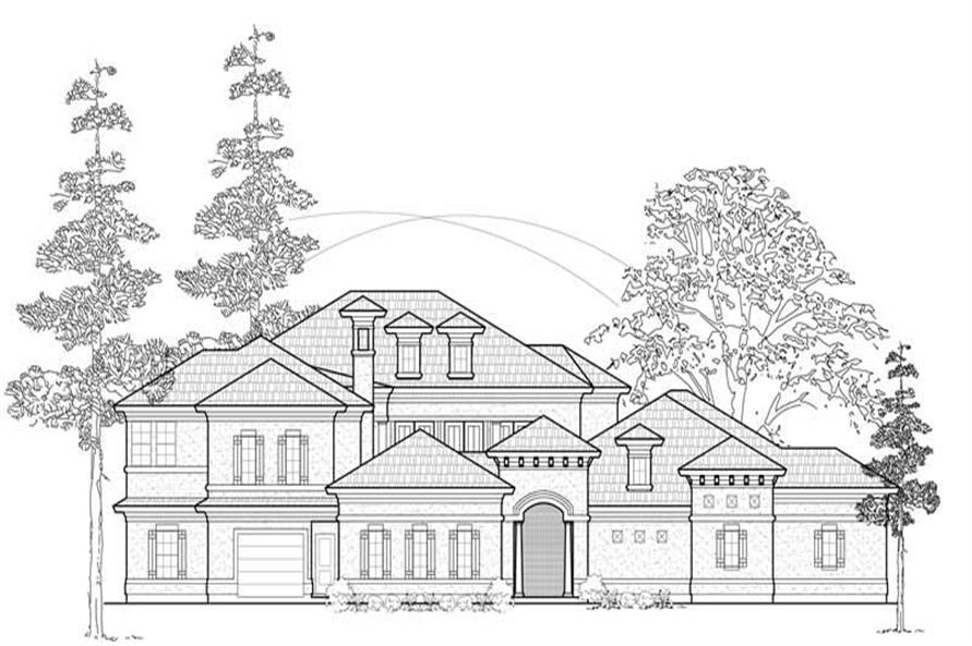 Home Plan Rendering of this 4-Bedroom,4518 Sq Ft Plan -134-1359