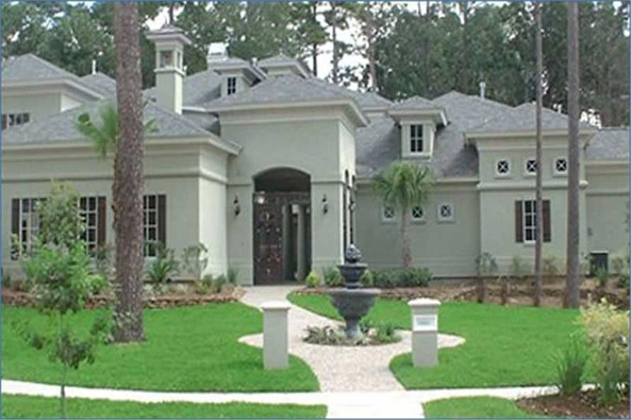 4-Bedroom, 4518 Sq Ft Mediterranean Home Plan - 134-1359 - Main Exterior