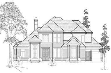 5-Bedroom, 4571 Sq Ft Luxury Home Plan - 134-1360 - Main Exterior