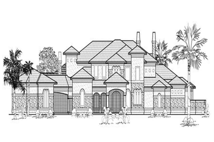 5-Bedroom, 8542 Sq Ft Luxury House Plan - 134-1363 - Front Exterior