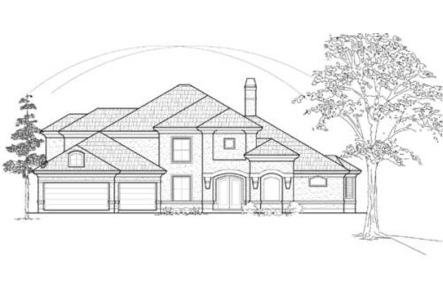 134-1364: Home Plan Front Elevation