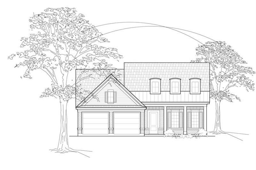 3-Bedroom, 2281 Sq Ft Country House Plan - 134-1366 - Front Exterior