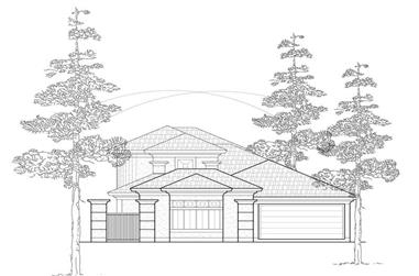 3-Bedroom, 2758 Sq Ft Spanish House Plan - 134-1367 - Front Exterior