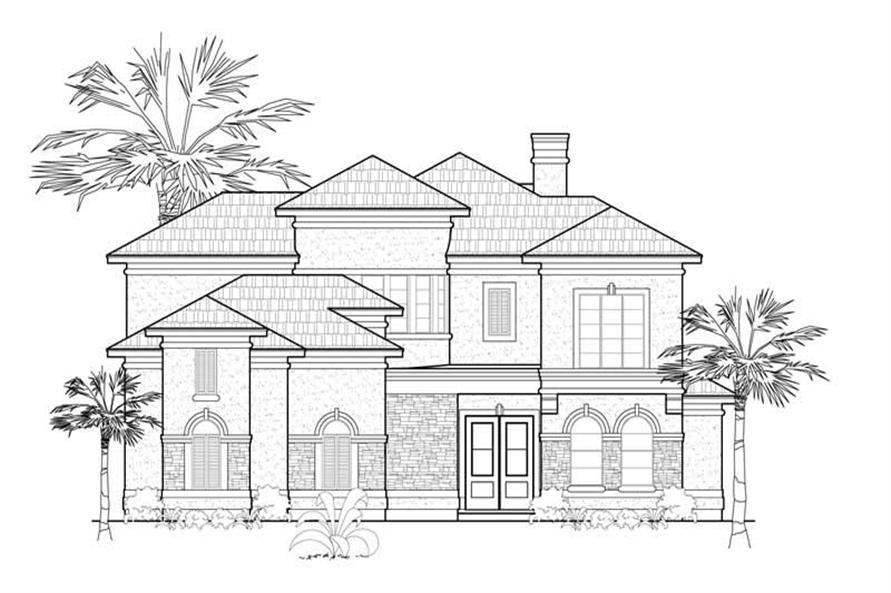Home Plan Rendering of this 3-Bedroom,3251 Sq Ft Plan -134-1368