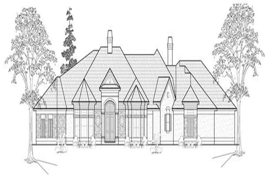 3-Bedroom, 3601 Sq Ft Luxury House Plan - 134-1370 - Front Exterior