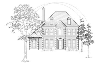 4-Bedroom, 3760 Sq Ft Luxury Home Plan - 134-1371 - Main Exterior