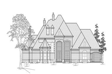4-Bedroom, 6820 Sq Ft Luxury House Plan - 134-1372 - Front Exterior