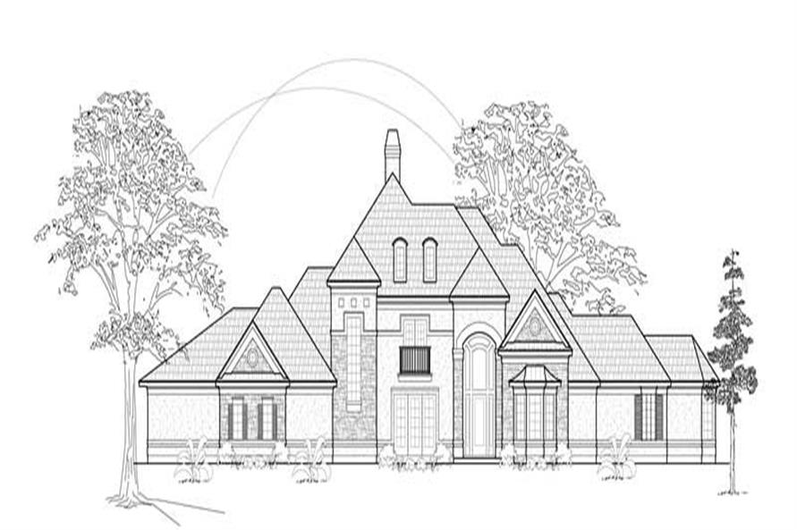 MAIN ELEVATION of this 4-Bedroom,4964 Sq Ft Plan -4964