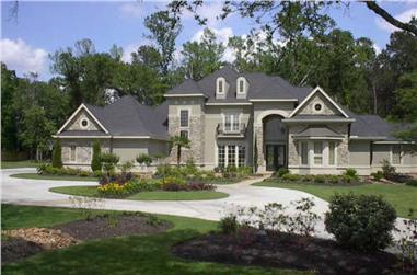 4-Bedroom, 4964 Sq Ft Luxury House Plan - 134-1374 - Front Exterior