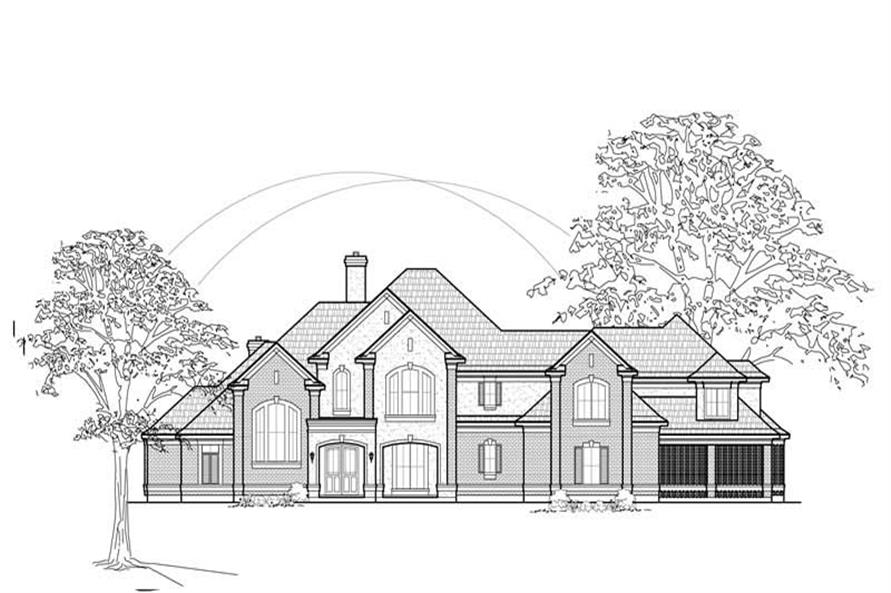 134-1375: Home Plan Front Elevation