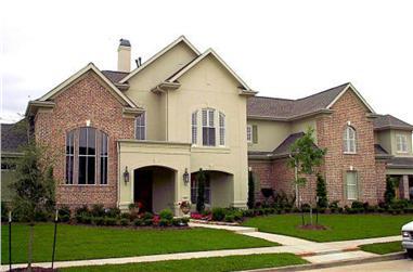 5-Bedroom, 4984 Sq Ft Luxury Home Plan - 134-1375 - Main Exterior