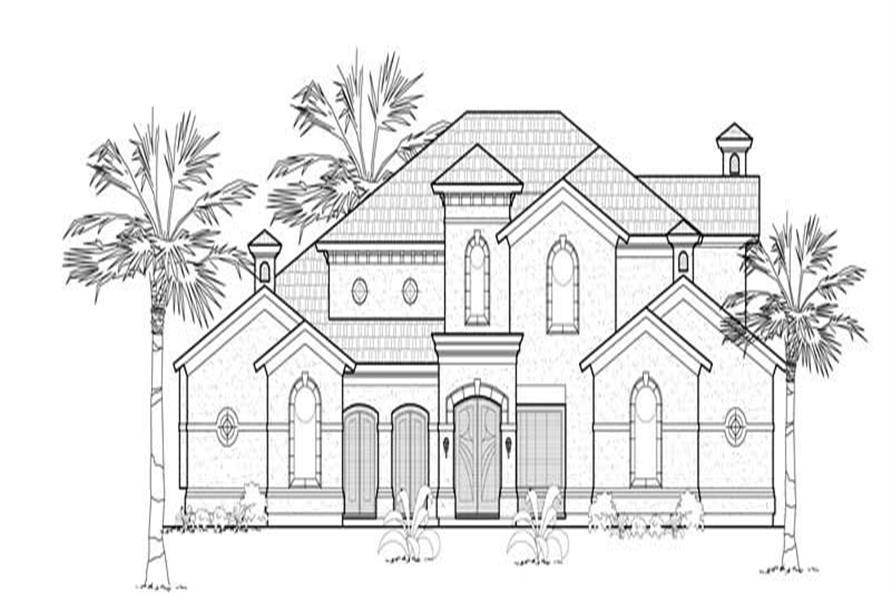 Mediterranean House Plans rendering.