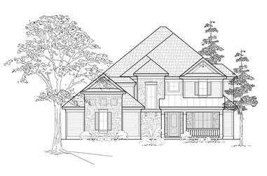 2-Bedroom, 2891 Sq Ft Country House Plan - 134-1377 - Front Exterior