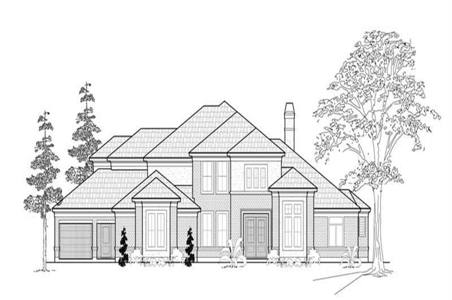 4-Bedroom, 4354 Sq Ft Luxury House Plan - 134-1380 - Front Exterior