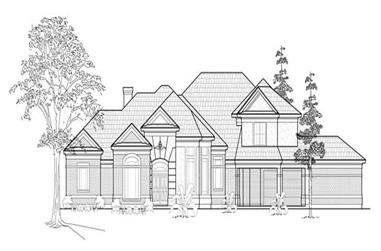 4-Bedroom, 3908 Sq Ft European House Plan - 134-1381 - Front Exterior