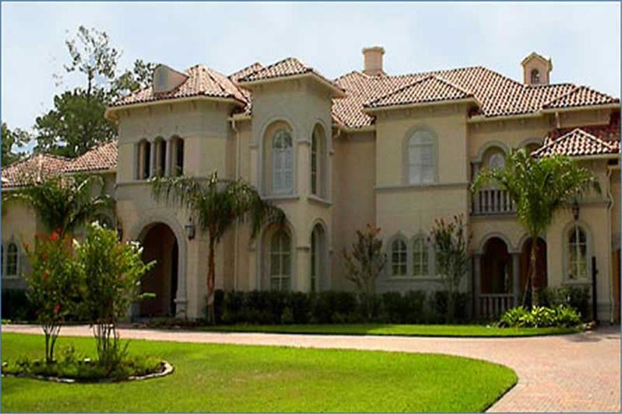 Luxury home plans mediterranean house design 134 1382 for Luxury mediterranean home plans