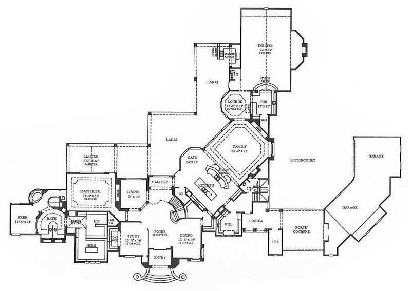 Luxury Home Plans Mediterranean House Design 134 1382