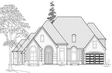 4-Bedroom, 3959 Sq Ft Luxury House Plan - 134-1384 - Front Exterior