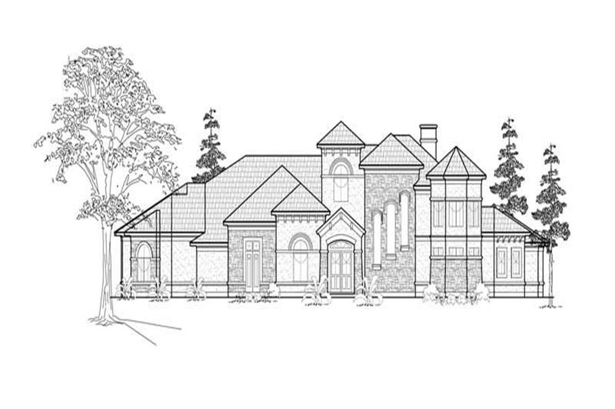 5-Bedroom, 5210 Sq Ft Luxury Home Plan - 134-1385 - Main Exterior