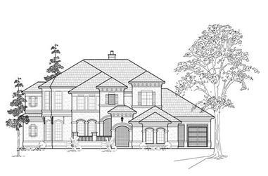 3-Bedroom, 4872 Sq Ft Luxury Home Plan - 134-1387 - Main Exterior