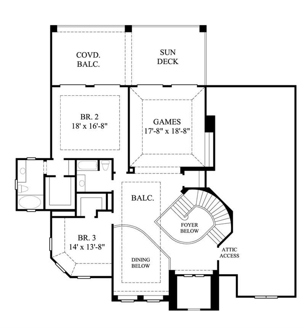 Large images for house plan 134 1387 for Second story floor plan