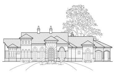 3-Bedroom, 3907 Sq Ft Mediterranean House Plan - 134-1390 - Front Exterior