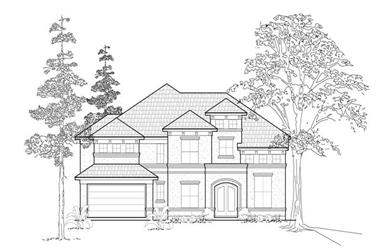 4-Bedroom, 3960 Sq Ft Mediterranean House Plan - 134-1392 - Front Exterior