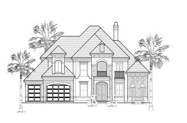 4-Bedroom, 4864 Sq Ft Luxury Home Plan - 134-1393 - Main Exterior