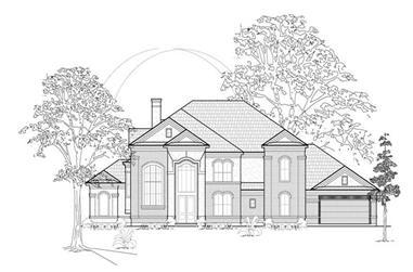 4-Bedroom, 4839 Sq Ft Luxury Home Plan - 134-1394 - Main Exterior