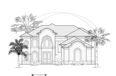 5-Bedroom, 4042 Sq Ft California Style House Plan - 134-1397 - Front Exterior