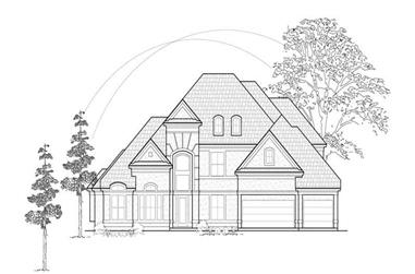 4-Bedroom, 3888 Sq Ft Luxury House Plan - 134-1399 - Front Exterior