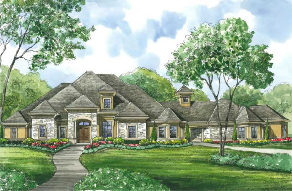 European House Plan 4 Bedrms 3 5 Baths 3929 Sq Ft 134 1400