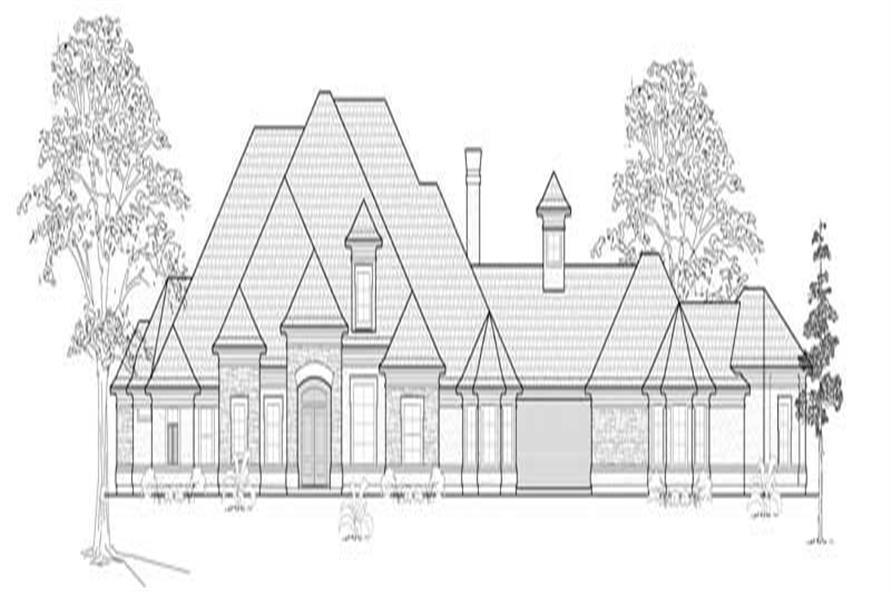 Home Plan Front Elevation of this 4-Bedroom,3929 Sq Ft Plan -134-1400