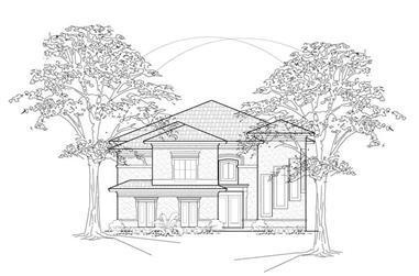 4-Bedroom, 3951 Sq Ft European House Plan - 134-1402 - Front Exterior