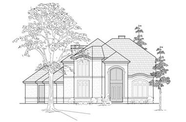 4-Bedroom, 4134 Sq Ft Luxury House Plan - 134-1403 - Front Exterior