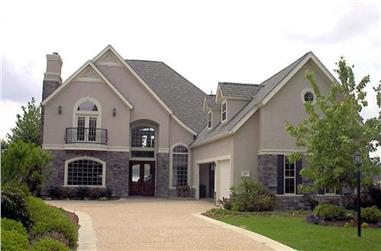 4-Bedroom, 4718 Sq Ft European Home Plan - 134-1404 - Main Exterior