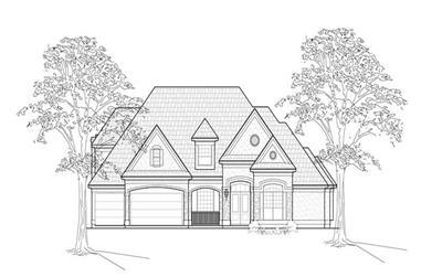 5-Bedroom, 4579 Sq Ft Luxury Home Plan - 134-1406 - Main Exterior