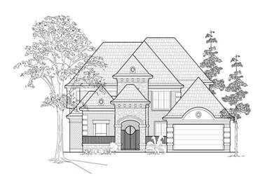 4-Bedroom, 3864 Sq Ft Luxury House Plan - 134-1407 - Front Exterior