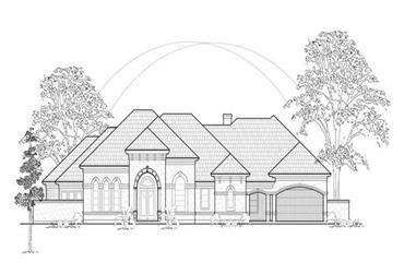 3-Bedroom, 3702 Sq Ft Luxury Home Plan - 134-1408 - Main Exterior