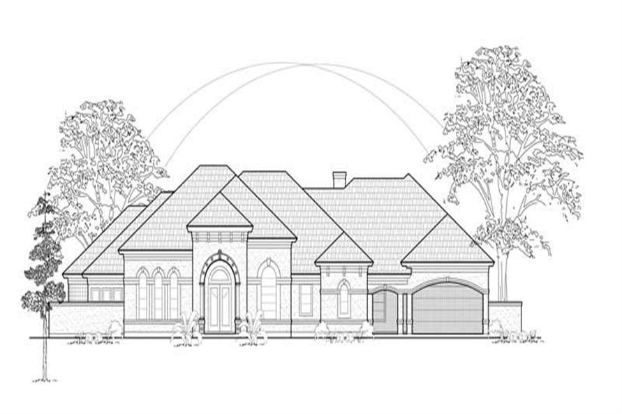 3-Bedroom, 3702 Sq Ft Luxury Home Plan - 134-1408 - Main Exterior