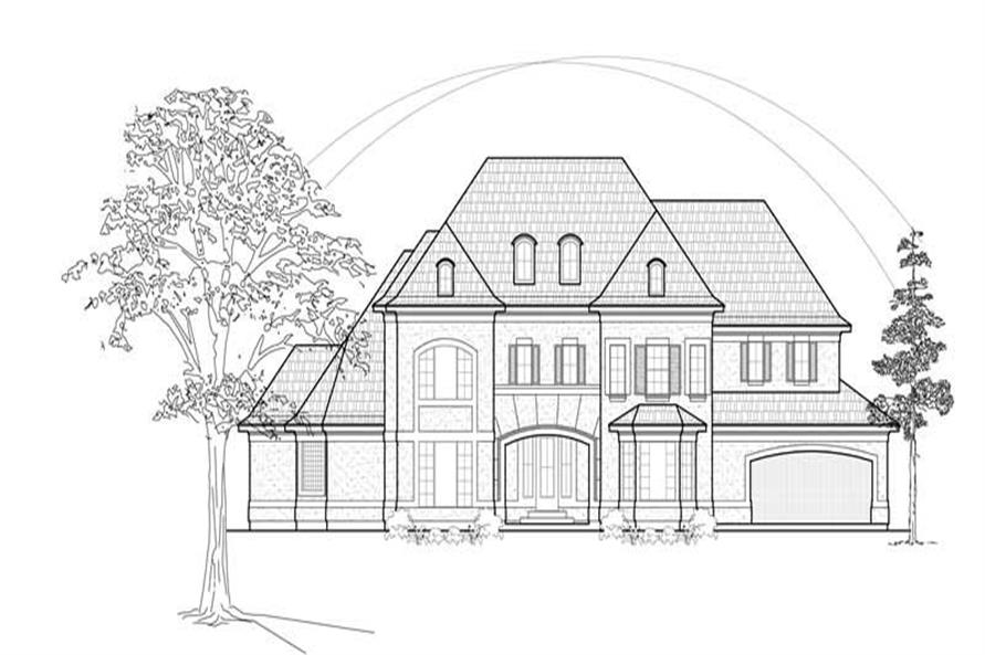 4-Bedroom, 4243 Sq Ft Luxury House Plan - 134-1409 - Front Exterior