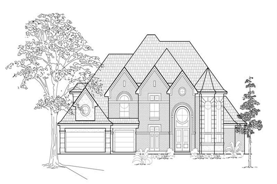 5-Bedroom, 4298 Sq Ft Luxury House Plan - 134-1410 - Front Exterior