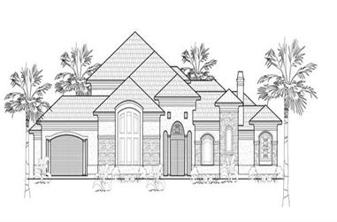 4-Bedroom, 4250 Sq Ft Luxury House Plan - 134-1411 - Front Exterior