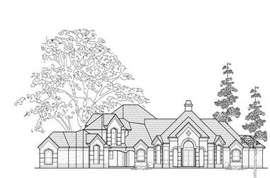 5-Bedroom, 4700 Sq Ft Luxury Home Plan - 134-1412 - Main Exterior
