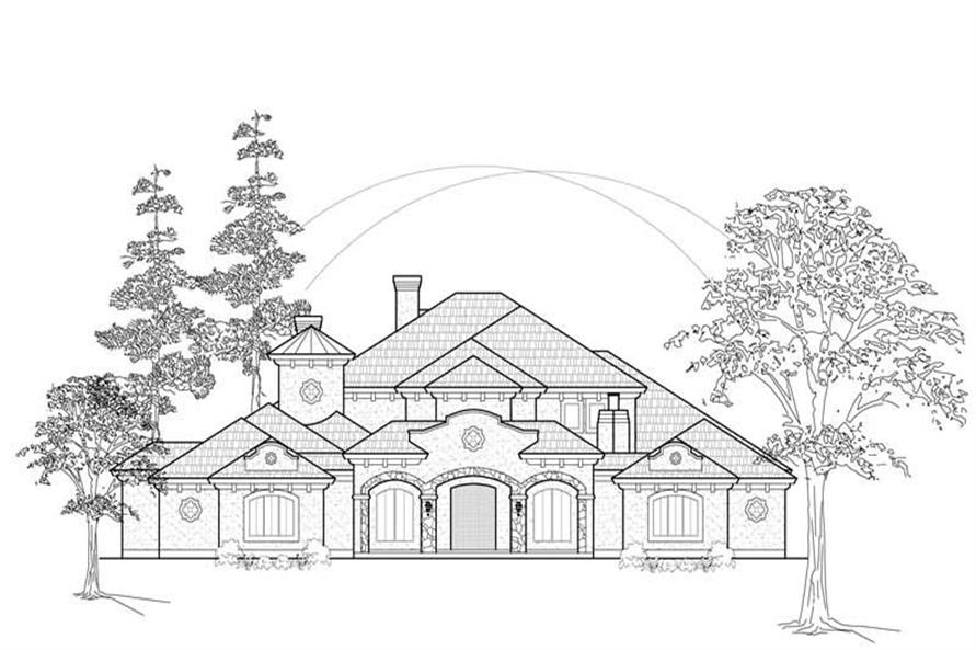 MAIN ELEVATION of this 4-Bedroom,4667 Sq Ft Plan -4667