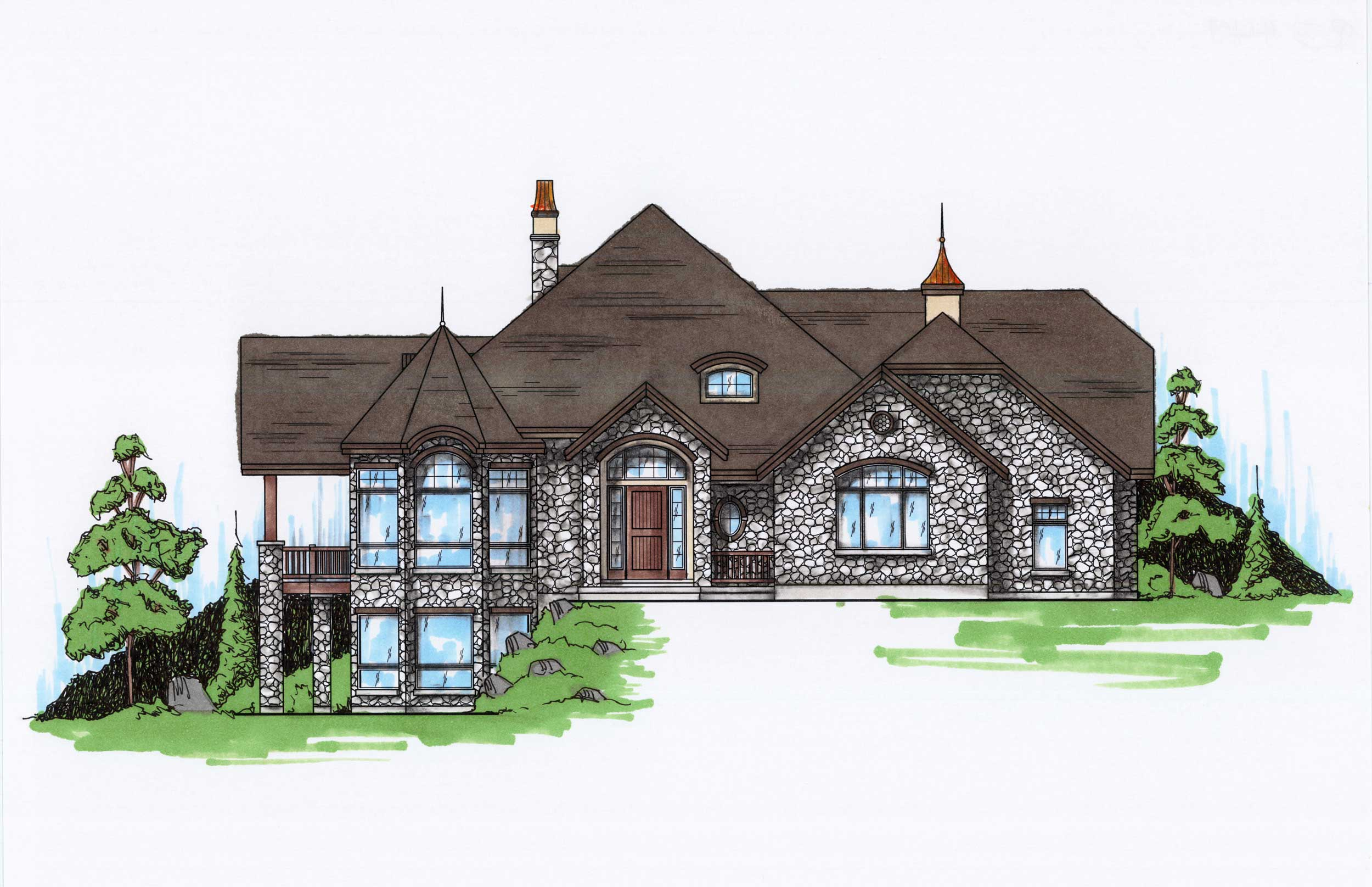 European luxury house plans home design vh r3449 for European luxury house plans