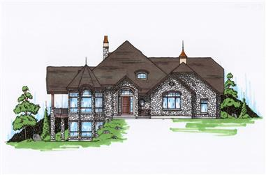 4-Bedroom, 3449 Sq Ft European Home Plan - 135-1003 - Main Exterior