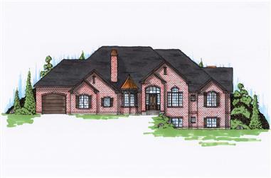 5-Bedroom, 3251 Sq Ft European Home Plan - 135-1005 - Main Exterior
