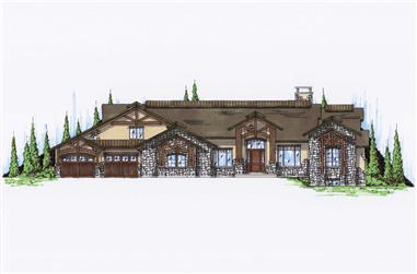 6-Bedroom, 4356 Sq Ft Craftsman House Plan - 135-1007 - Front Exterior