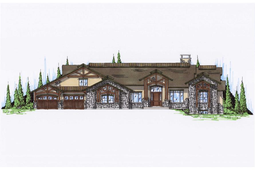 Craftsman Luxury House Plans Home Design Vh R4356